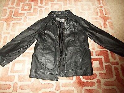Wilson Leather Kids size XL black leather jacket