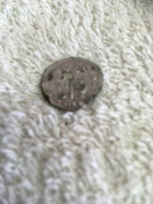 unresearched  washed silver roman coin ?metal detector find