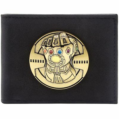New Official Avengers Infinity Gauntlet Soul Gems Black Id & Card Wallet