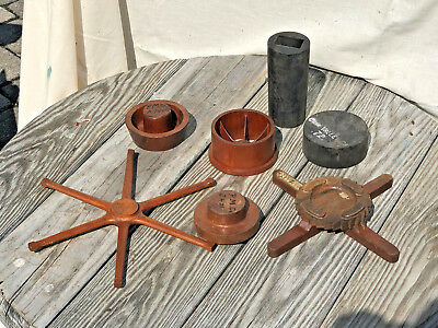 Lot of Vintage Industrial Foundry Mold Pattern Sand Casting Wheel Gears