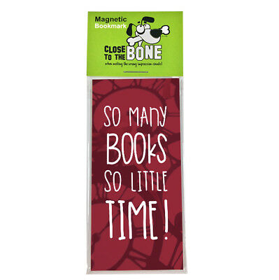#631 MAGNETIC BOOKMARK So Many Books funny present rude Any Occasion Gift
