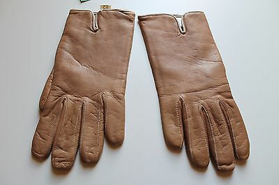 """Guanti Donna in Vera Pelle """" PENNY GLOVES """"  Col.Beige Made in Italy"""