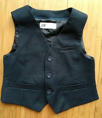 Boys H&M suit waistcoat wedding/party 1.5 -2 years worn once *COMBINED POSTAGE*