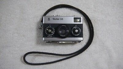 Vintage Rollei 35 Singapore Carl Zeiss Tessar 1:3,5 F=40Mm Untested Nice Unit