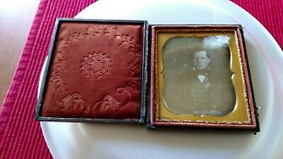 Antique Etched Picture In Mirror
