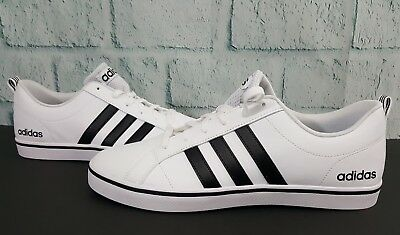 Adidas NEO Men's Pace VS Fashion 11 Sneakers Shoes White Black Blue AW4594 New