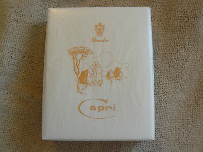 Pineider Capri Box Of 25 Cards + Envelopes White/ Orange  $90 Retail