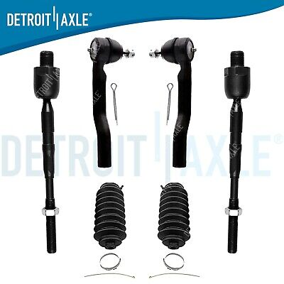 6pc Front Inner & Outer Tie Rod Boot Kit for 2007 - 2014 Ford Edge Lincoln MKX