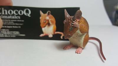 RARE Kaiyodo Choco Q Pet Gerbil Rat Mice PVC Mini Figure Figurine Retired
