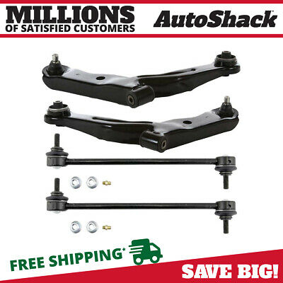 Front Set of (4) Lower Control Arms & Sway Bar Links fits Ford Mazda Mercury