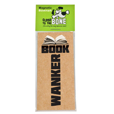 #635 MAGNETIC BOOKMARK Book W*nker funny present rude Any Occasion Gift