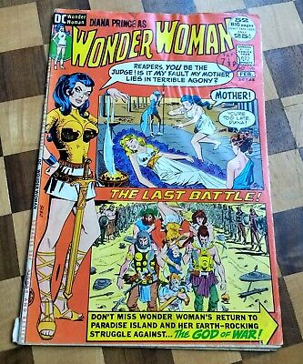 Wonder Woman #198 Dc Comics 1972 Land Of Amazons-Death  Fn