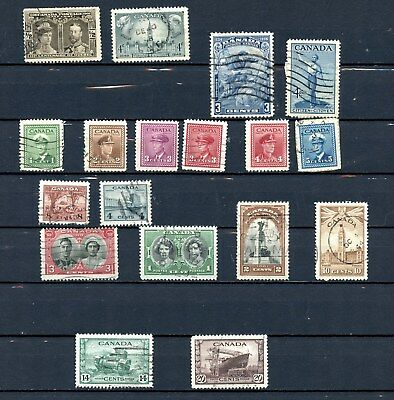Canada Used Lot 1940s Various Incl War Issue KGVI G379