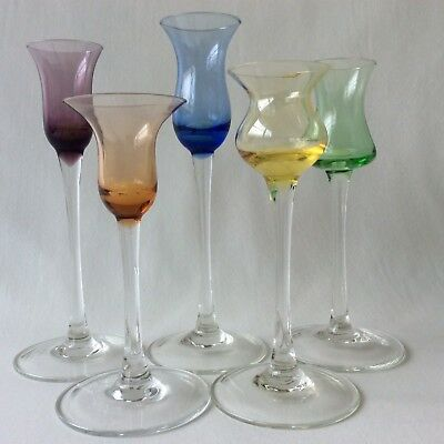 Lenox Assorted Color Gems Candlestick Holders Hand Blown Glass, Single Light