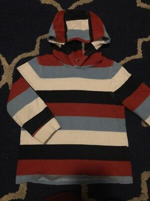 Gymboree Boys Striped Pullover Hoodie 4T