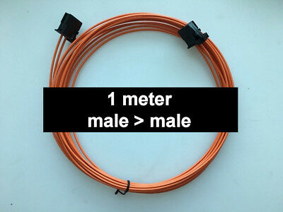 MOST fiber optic optical cable male to male fits BMW Mercedes Audi Porsche 1m