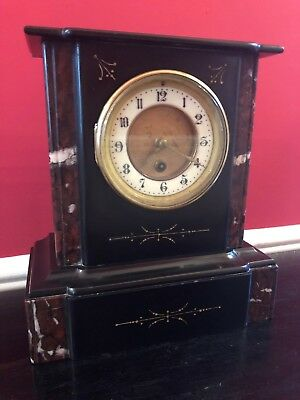 Antique French Marble Mantle Clock