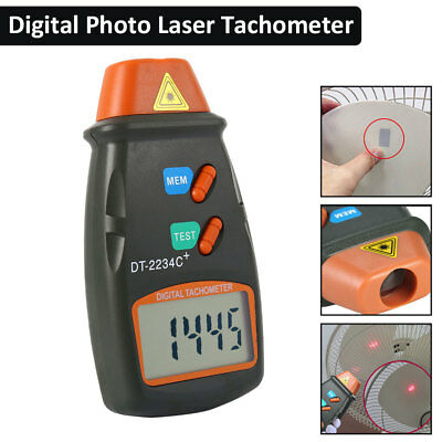Automatic Non-Contact Digital LCD Laser Photo Tachometer RPM Tester Speed Meter