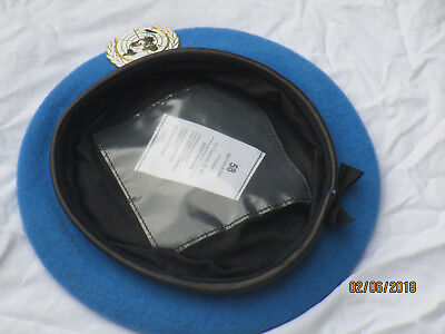 Barett: United Nations, UN Beret, blue, Gr. 58 mit Capbadge