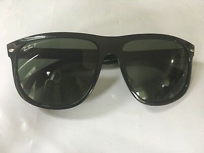 ea1716bd11 NEW RAY BAN RB 4147 601 58 Black Plastic Sunglasses Green Polarized ...
