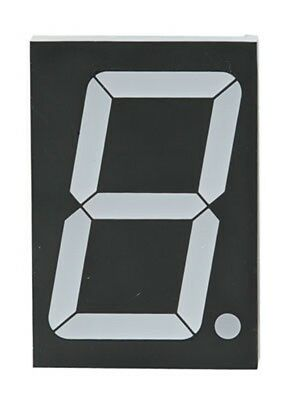 "2.3"" Single 7 Segment Red LED Display Character Height 2.24"" 1.878"" x 2.744"""