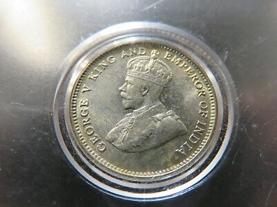1927 George V King Emperor of India Straits Settlements Silver Dime