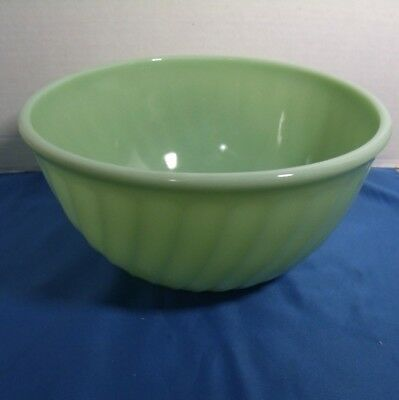 "Vintage FIRE KING GREEN JADEITE SWIRL 9"" MIXING BOWL Green Retro"