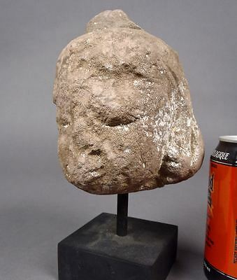 Beautiful Old 14-17thC BURMESE STONE BUDDHA HEAD Sculpture Burma Sculpture
