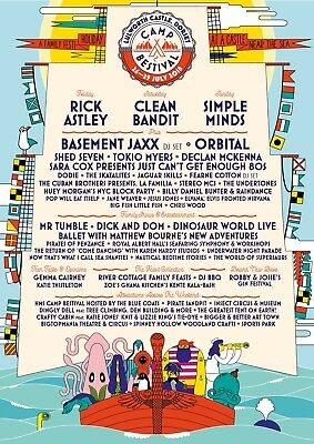 Camp Bestival Family Weekend Camping Tickets Pass 2 Adult 2 Child