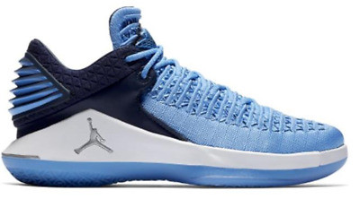 Air Jordan XXXII UNC Flyknit Low BG Blue White Shoes AA1257-401 120 Boys 6.5 51009a718