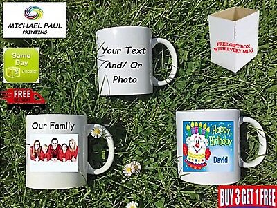 Personalised mug cup any text message logo image photo birthday Teacher  wedding