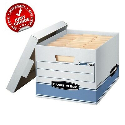 "Bankers Box Heavy Duty Storage Boxes, 10"" X 12"" X 15"" (10 Pack) - Free Shipping"