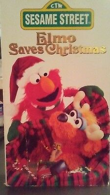 educational pbs sesame street elmo saves christmas vhs 1996 free shipping - Sesame Street Elmo Saves Christmas