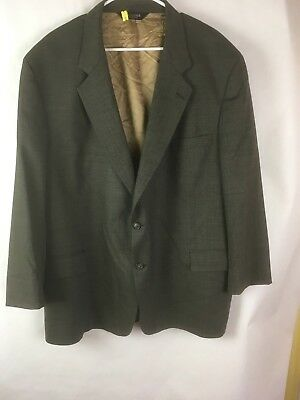 Joseph A Bank Signature  2-Button Blazer Dark Grey  Plaid Men 52R   C13