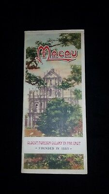 Rare tourist map of Macau, Oldest Foreign Colony in Far East. 1949
