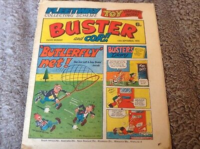 Buster and Cor comic 13th September 1975