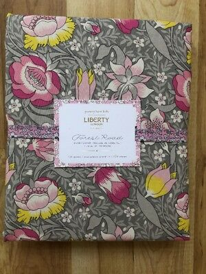 New Pottery Barn Kids Liberty London Forest Road   Duvet Cover Full Queen Blue