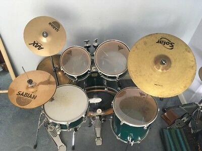 Yamaha YD Series Drum Kit in deep green with upgraded Sabian Cymbals