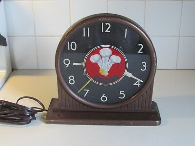 Vintage Three Feathers Whiskey Advertising Clock for Parts