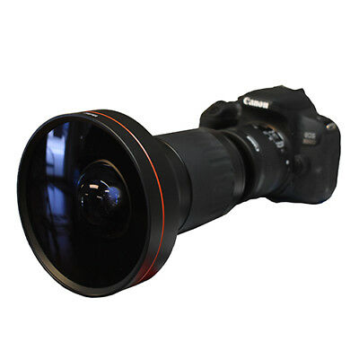 200° X21 Wide Angle Fisheye Lens For Canon Eos Rebel Sl1 1300D T6 T5 6D 60D 80D