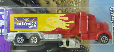 2009 PEZ Hollywood Video Red Semi Truck In Package FLAMES