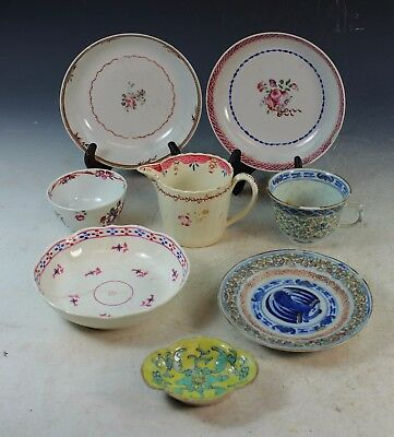 Group Of 9 Antique Chinese Porcelain Plates and Cups