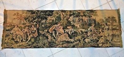 """Beautiful Antique Victorian Wall Tapestry 55"""" X 18.5"""""""