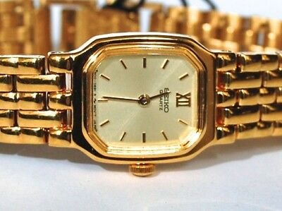 Vintage New Old Stock W/box & Tag $215 Ladies Seiko 4N00 Watch Mint Condition