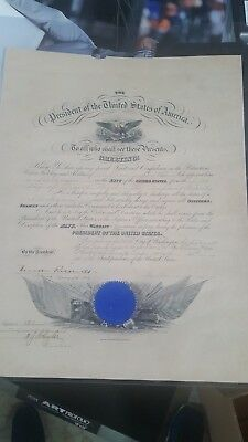 Theodore Roosevelt Teddy Signed  Autographed  Military Appointment Psa