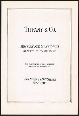 1910s Original Vintage Tiffany & Co New York Print Ad a15