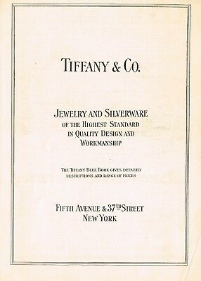 1910s Original Vintage Tiffany & Co New York Print Ad a8