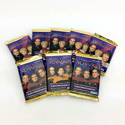 8x Star Trek Voyager Collector Trading Cards Packs Vintage 1995 128 Ttl Series 2