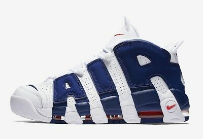 Nike Air More Uptempo GS White / Deep royal blue team 415082-103 Size 4Y Youth