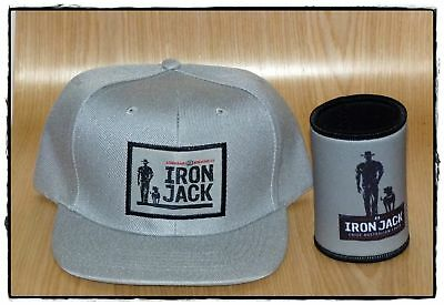 iron jack beer cap and can cooler (grey)